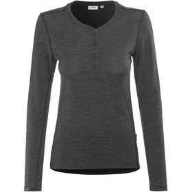 Lundhags Merino Light Henley Shirt Women Grey Melange